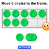 Ten Frame for the smart board by Gynzy Interactive Whiteboard Software